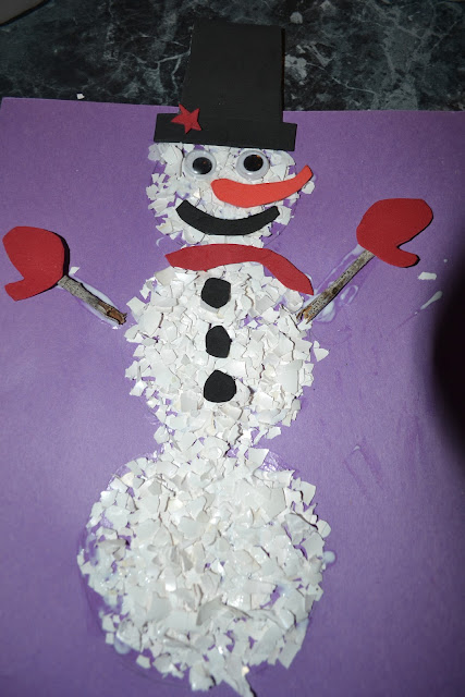 Snowman Crafts for Kids Eggshell Snowman makes a fun science lesson for kids.