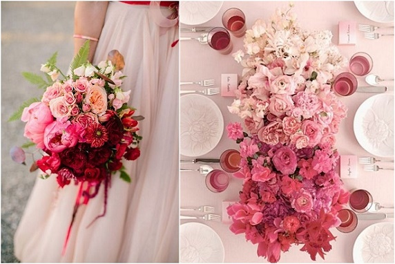 Trendy ślubne i weselne 2016, Dekoracje sali weselnych, dekoracje romantyczne wesele 2016, ślub w kolorze różowym, romantyczne kwiaty na ślub, organizacja ślubu i wesela