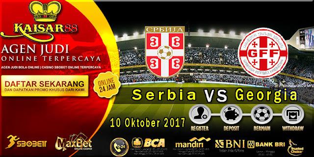 Prediksi bola terpercaya Liga World Cup Serbia Vs Georgia 10 Oktober 2017