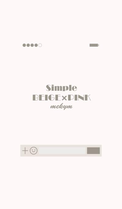 Simple[Beige+Pink]