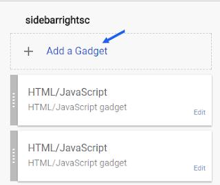 Add Social Media Codes Blogger Sidebar