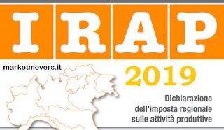 Scadenza presentazione IRAP 2019