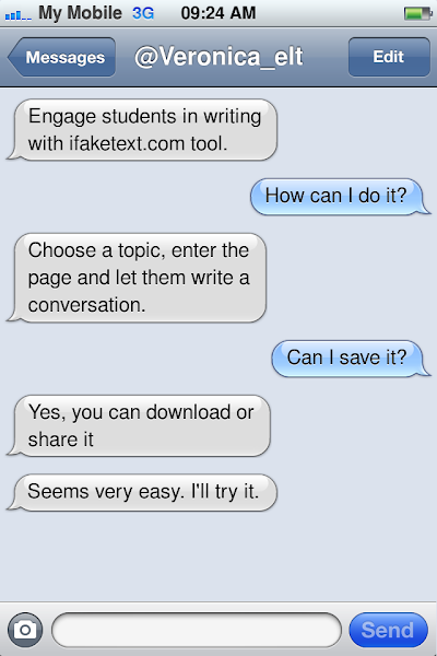 Fake text tool My English Backroom