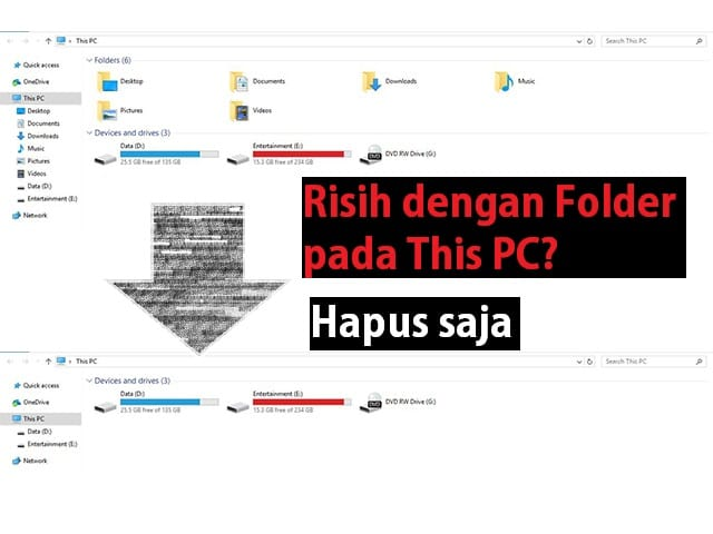 cara menghapus folder pada 'This PC' Windows 10 1