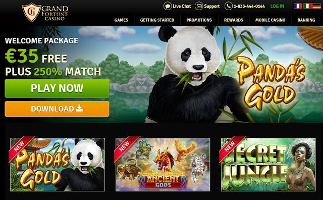 Grand Fortune casino welcome bonus