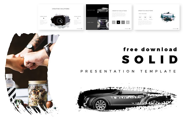 SOLID free PowerPoint Template Main Title