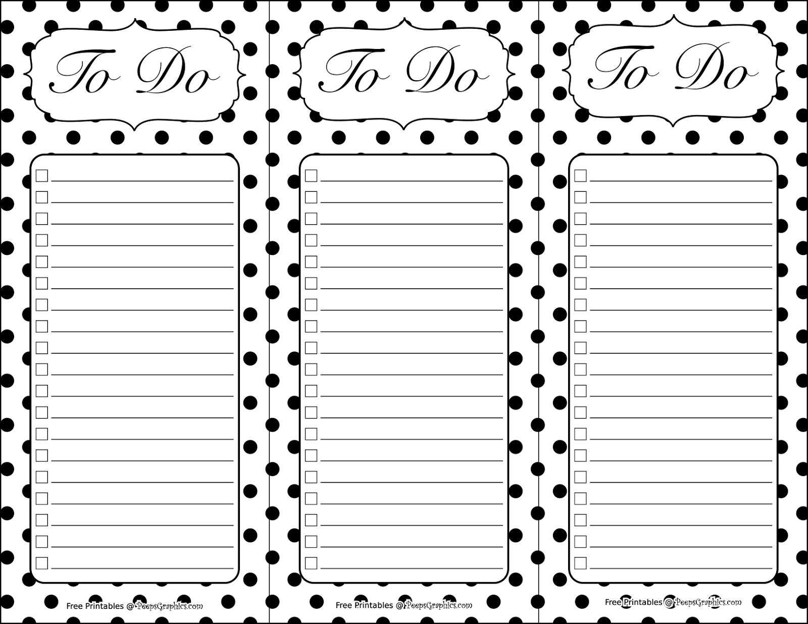 black dot list printables to do u0026 grocery
