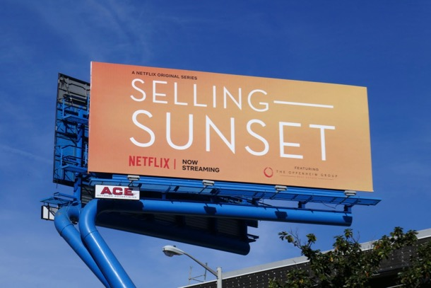 Selling Sunset season 1 billboard