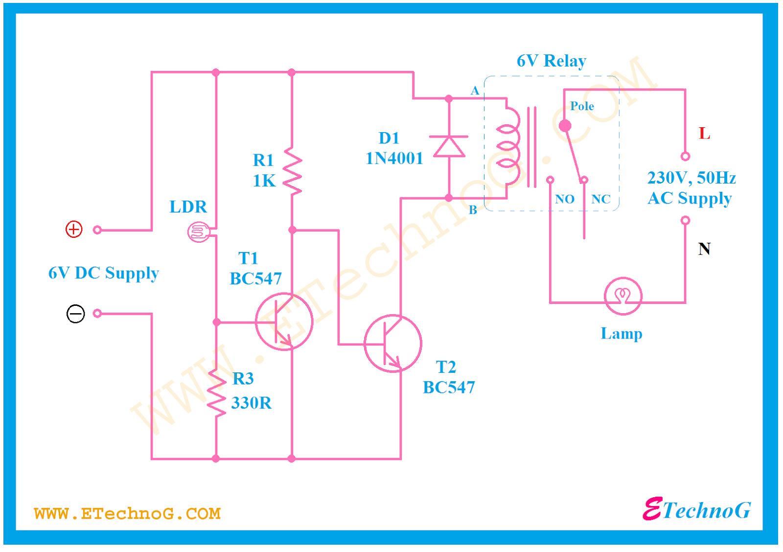light dependent resistor ldr project automatic night lamp circuit using ldr [ 1600 x 1128 Pixel ]