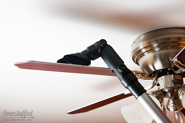 Vacuum off your ceiling fans! Amazing idea!