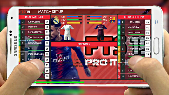 Download FTS 19 MOD PES 2019 Graphics HD Update 300MB Android