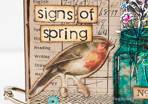 Layers of ink - Signs of Spring Notebook Tutorial by Anna-Karin Evaldsson