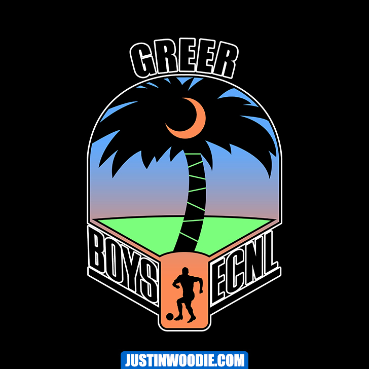 Boys ECNL Greer SC Graphic Logo Design