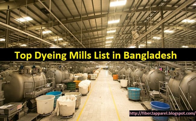 Textile dyeing factory list in Bangladesh