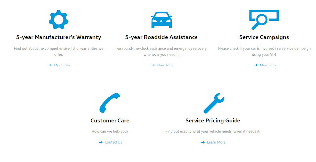 5 Years Manufacturer's Warranty and 5 years roadside assistance by Volkswagen