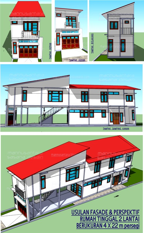 mannusantara design indonesia rumah tinggal sekaligus