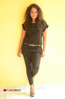Sonia Deepti Pictures in Black Dress at Chinni Chinni Asalu Nalo Regene Platinum Disc Function 0122