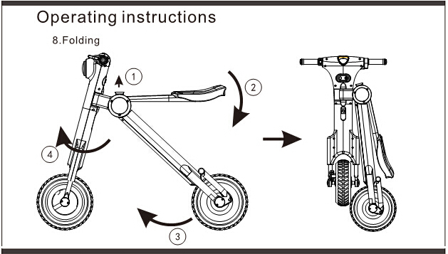 Xe điện xếp gọn et scooter với 4 bước