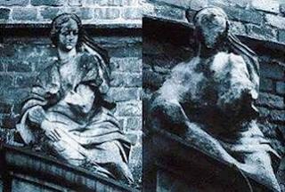 monumento danificado pela chuva acida