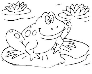 amphibian coloring pages | inkspired musings: It's hard to be green...