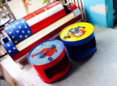 furniture dari drum bekas