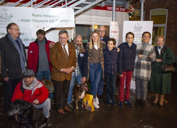 Prince Laurent, Princess Claire and their children Prince Aymeric, Prince Nicolas and Princess Louise visited Plan Froid