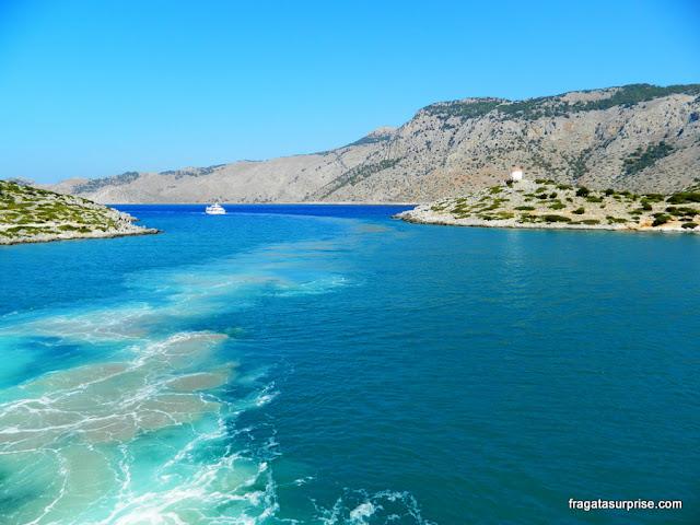 Grécia - Dodecaneso - Enseada de Panormiti, na Ilha de Sými
