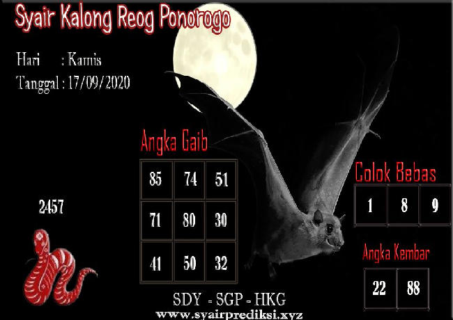 Kode syair Singapore Kamis 17 September 2020 114