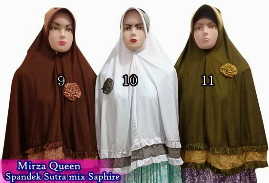 jilbab instan dari bahan spandek sutra