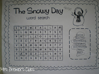 FREE book study companion activities for The Snowy Day