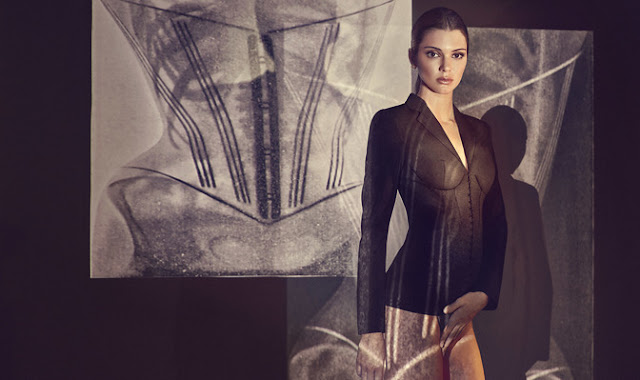 Kendall Jenner Redefines Power Suiting In The LA PERLA Corset Jacket