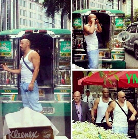 Photos Vin Diesel in Manila May 2013