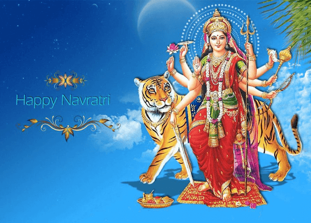 Happy Navratri Day HD Greetings Wallpaper Image