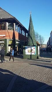 Christmas tree in Barrow in Furness by Marc Bazeley