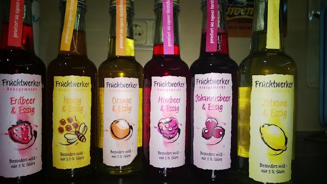 6 Fruchtessige in Flaschen