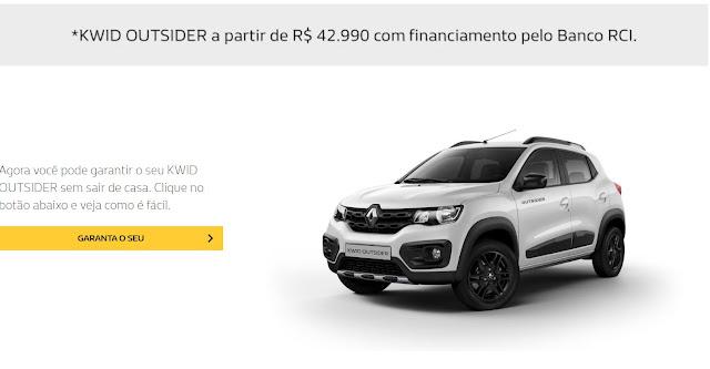 Renault Kwid Outsider - preço