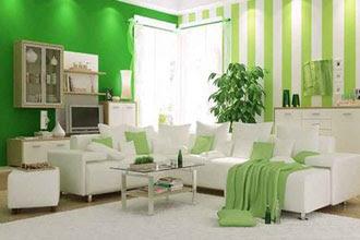 warna cat ruang tamu 2 warna yang lagi trend