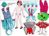Бумажная кукла Маленькая модница