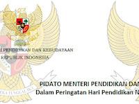 Pidato Mendikbud RI Peringatan Hardiknas 2 Mei 2019