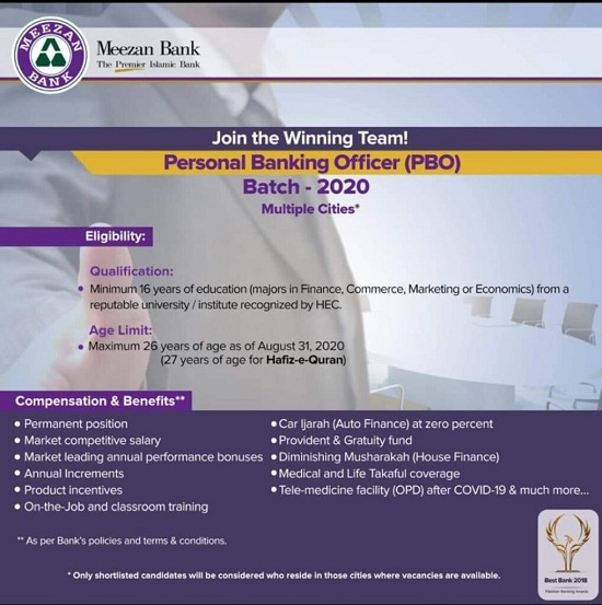 meezan-bank-jobs-2020-for-Personal-Banking-Officer