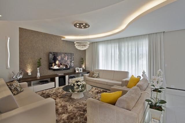 decoracao sala branca e bege – Doitri.com