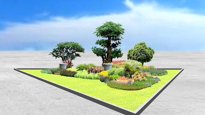 Desain Taman Median Jalan oleh Jasa Tukang Taman Surabaya 3
