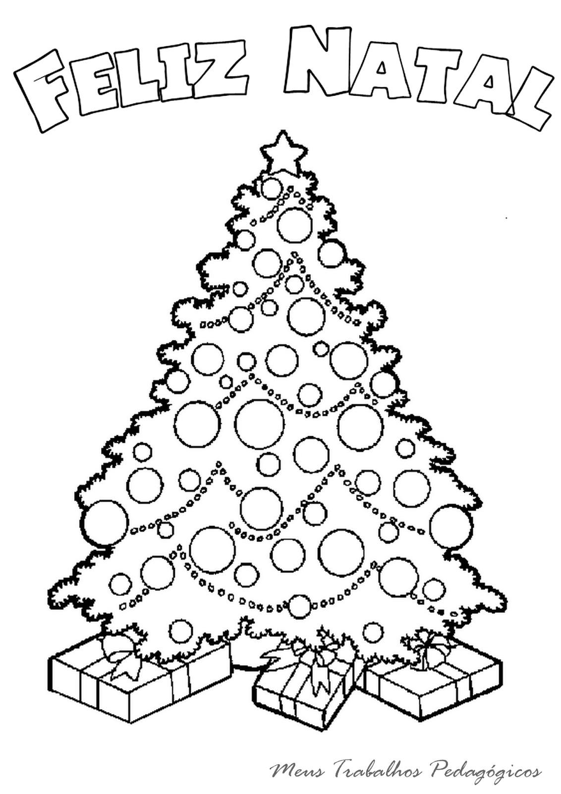 Meus Trabalhos Pedagogicos Desenhos De Arvore De Natal Para Colorir