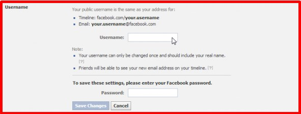 how to make a username of facebook page