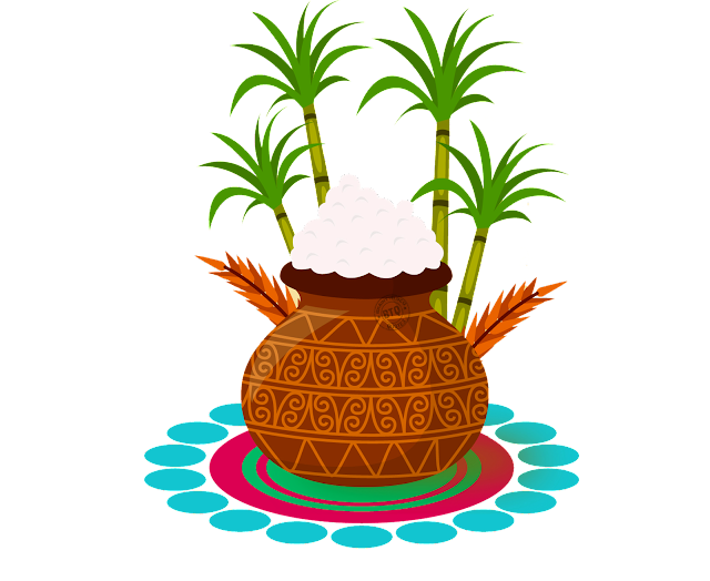 vector pongal pot designs for free, latest Sankranti design Elements for Free