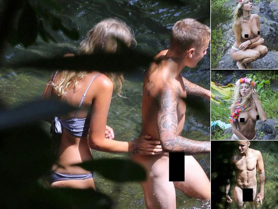 Justin Bieber Shows Off His Bare Skin On His Vacation In Hawaii With Sahara Ray!