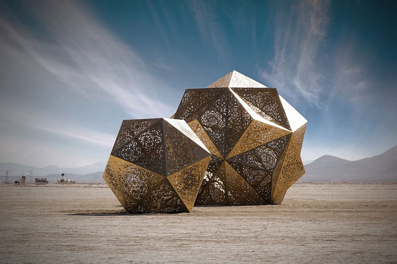 Geometric Sculptures by HYBYCOZO