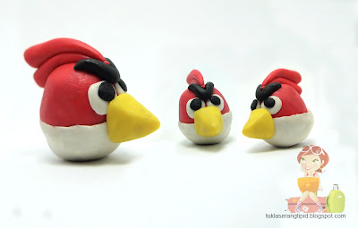 clay angry bird  red bird   handcrafts arts creative DIY