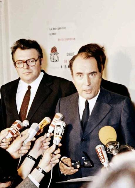 François Mitterrand, líder do Partido Socialista (PS) francês,1979