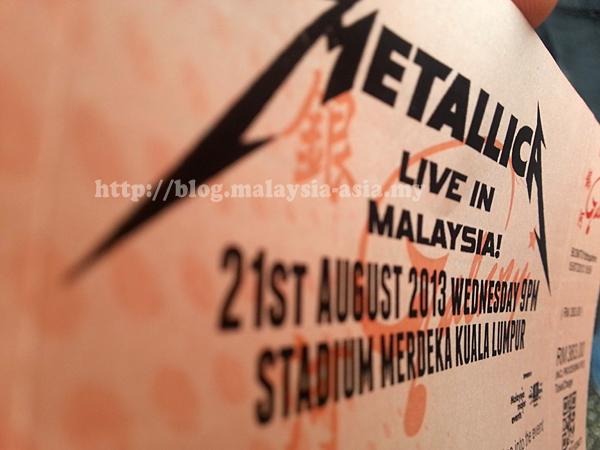 Metallica Live Ticket